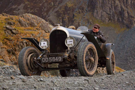Bentley Sports Car. A Bentley Sports Car Competes In The Honister Vintage  Hill Climb In