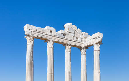 The Temple of Apollo.  The Temple of Apollo is located in the ancient Greek city of Side in southern Turkey.