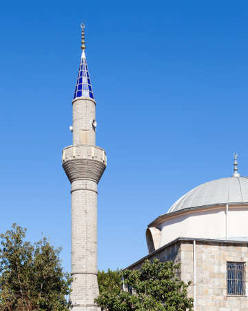 turkiye: Side Mosque.  The mosque in the ancient Greek city of Side is located at the end of Sides peninsula in southern Turkey.  Side is in Antalya province.