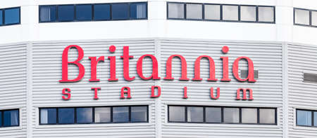 britannia: Britannia Stadium.  Britannia Stadium adorns the home of Stoke City Football Club in Stoke-On-Trent, England.  The stadium has since been renamed the bet365 stadium.