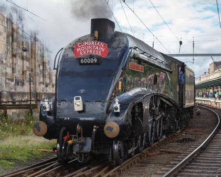 Union von Südafrika. Konservierte Sir Nigel Gresley Dampflokomotive Union of South Africa ist in Carlisle, England abgebildet. Standard-Bild - 79533598
