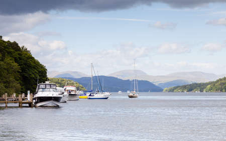 Lake Windermere.  The view across Lake Windermere from Lakeside, Cumbria in the English Lake District National Park.
