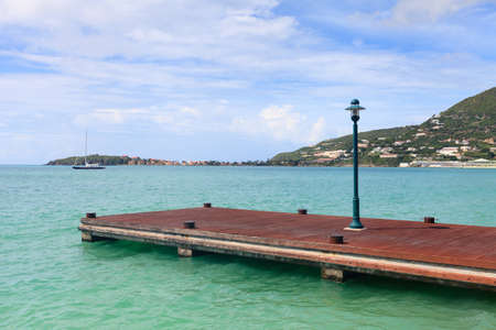 Captain Hodge Wharf.  The pier on Captain Hodge Wharf is a landing stage in Philipsburg, St, Maarten in the West Indies.