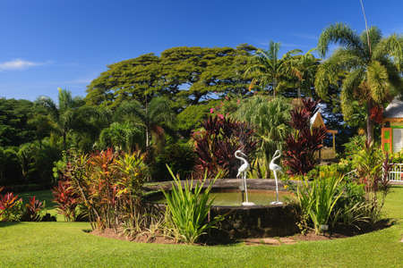 The gardens of Romney Manor.  The manor dates back to 1626 when Europeans took the site over following the Carib Indian massacres. Editorial