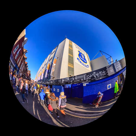 Goodison Park.  Goodison Park is the home of Everton Football Club.  The stadium is one of the oldest purpose built football stadiums in the world.