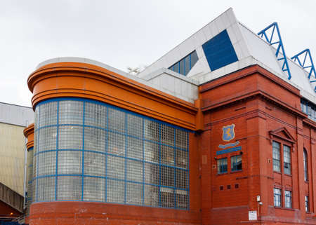 The Bill Struth Main Stand.  The Bill Struth Main Stand at Ibrox Stadium, home of Glasgow Rangers Football Club in Scotland.  The stand is a category B listed building.