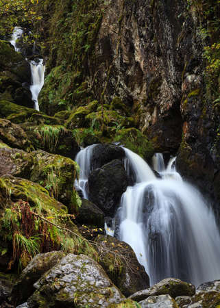 Lodore Falls.  A waterfall a short distance from Derwentwater, Cumbria in the English Lake District national park.