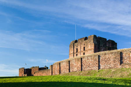 Carlisle Castle in Cumbria, northern England.  The castle was built in the 12th century to defend the area from invasion by Scottish invaders.