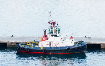 Tug boat VB Mediterraneo is pictured docked in port Las Palmas de Gran Canaria, Spain. Editorial