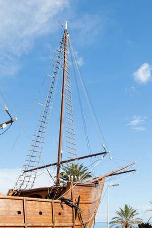 A Naval Museum in a reconstructed ship in Santa Cruz de La Palma.  The museum, a replica of one of Columbuss caravels. Editorial