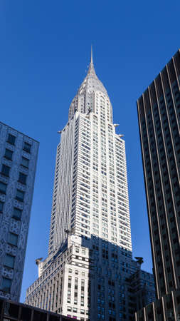 The Chrysler Building in New York City was the worlds tallest structure at the time of its construction.  It was completed in 1930 in an Art Deco style. Editorial