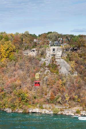 A view of the Niagara Cable Car above the Niagara Whirlpool, Canada. Redakční