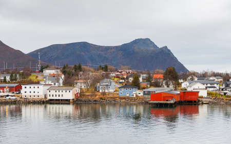 Risoyhamn Waterfront.  Risoyhamn is a small village on the island of Andoya in Nordland, Norway.