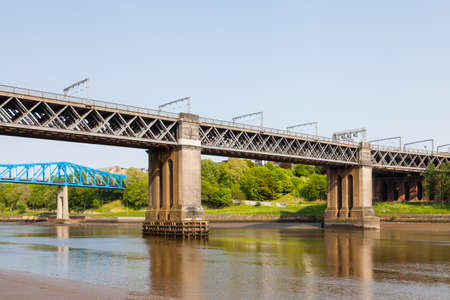 The King Edward VII railway bridge over the River Tyne in North East England.  The bridge connects Newcastle upon Tyne and Gateshead.