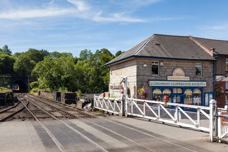 The view from Grosmont Station on the North Yorkshire Moors Railway in Northern England. 報道画像