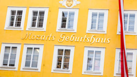 The birthplace of Wolgang Amadeus Mozart.  Mozart was a classical composer born in 1756.