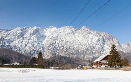The view from the foot of Untersberg mountain in Austria.  The mountain straddles the border between Germany and Austria.