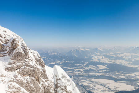 The view from the summit of Untersberg mountain in Austria.  The mountain straddles the border between Germany and Austria.