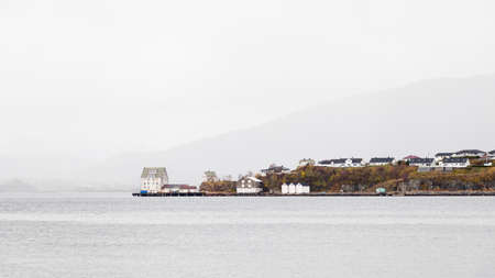 The view towards the Aspoy waterfront from Alesund, Norway.  Aspoy is an island in Alesund municipality in western Norway.