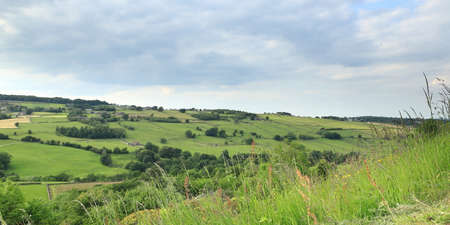 West Yorkshire Countryside.  A view across the West Yorkshire countryside close to the village of Haworth in northern England. Stockfoto