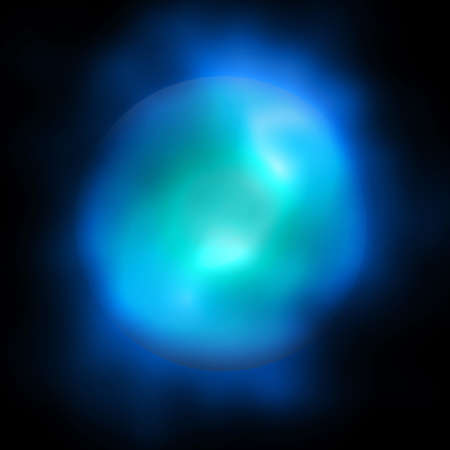 globule: Abstract Nebula Ball Sphere Dark Background