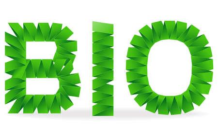 folded: Bio sign folded paper illustration