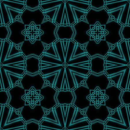 kaleidoscope: Tiled Abstract Glowing Geometric Kaleidoscope Flower Design