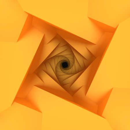Orange Low Poly Geometric Background 3d Rendering Stock Photo
