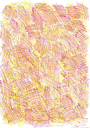 Purple Yellow Cross Hatching Abstract Background