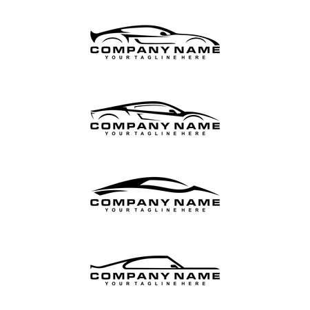 Illustration vector a sportcar logo