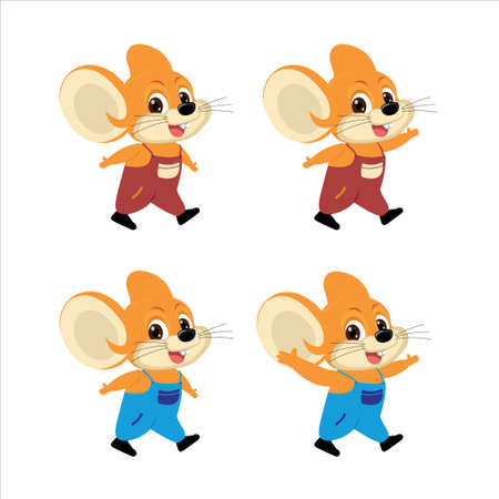 Illustration vector a mouse and rabbit 向量圖像