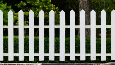 precedent: White lath wood fence model