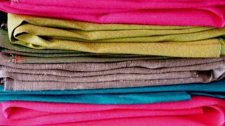 rumple: Color clothes rolls on the rack
