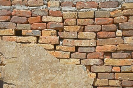 Pattern of ancient brick wall photo