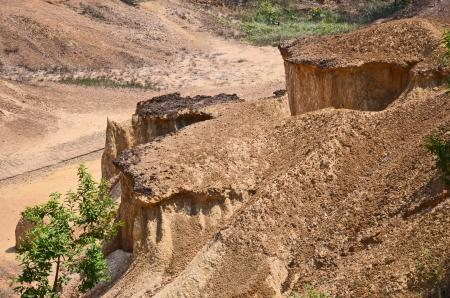 derrumbe: Naturaleza Fant�stico suelo colapso Foto de archivo