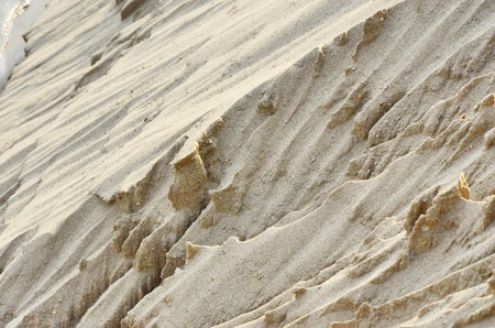 land slide: Nature sand slide cliff under sunlight