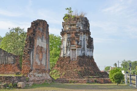 leavings: Remainder of ancient temple and pagoda