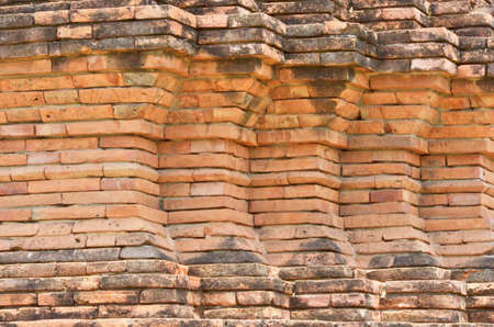 Beautiful red brick corner pattern of ancient temple photo
