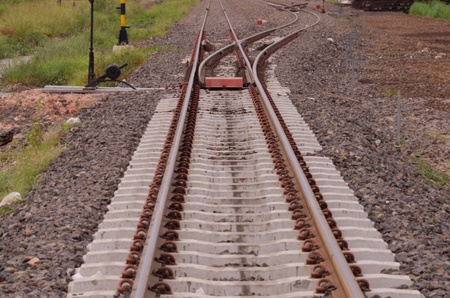 shunt: Shunt of new railway with concrete sleeper