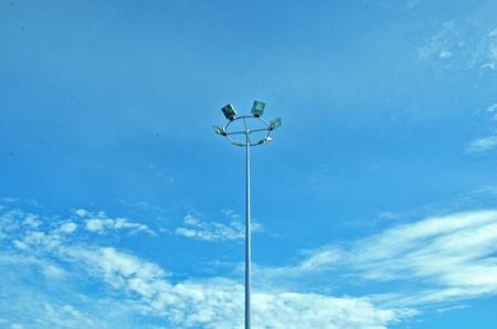 Sport lights with beautiful sky photo