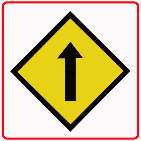 One way traffic sign Imagens - 22842983