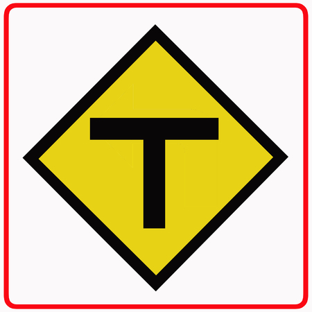 Junction ahead traffic sign photo