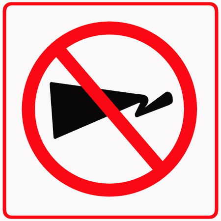 audible: No audible traffic sign Stock Photo
