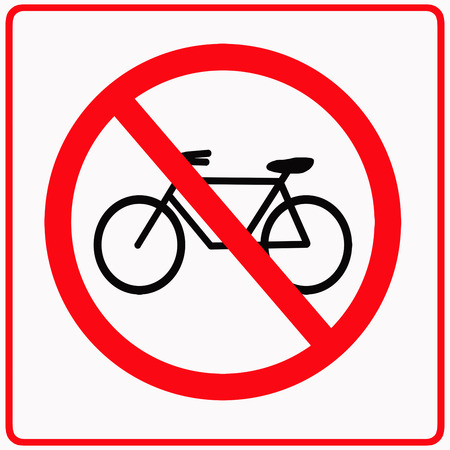 No bikes traffic sign photo