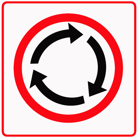 Roundabout ahead sign photo