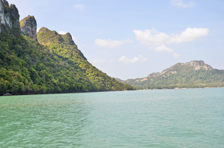 Beautiful sea beautiful mountain in thailand photo