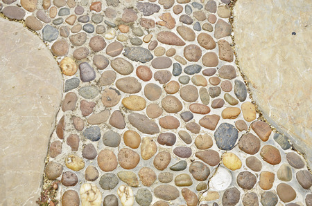 aggregates:  Pattern of rock on pathway