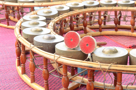 pinchbeck: Percussion instrument consisting of small gongs Stock Photo
