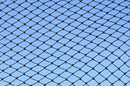 nylon: Nylon mesh on blue sky