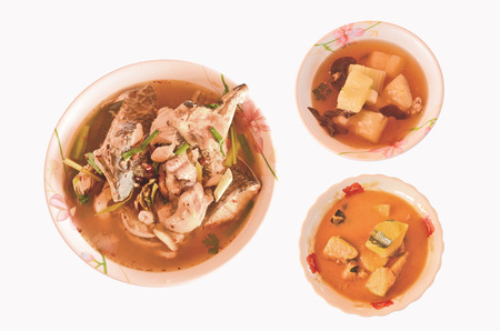 snake head: Snake head fish and pork soup dishes